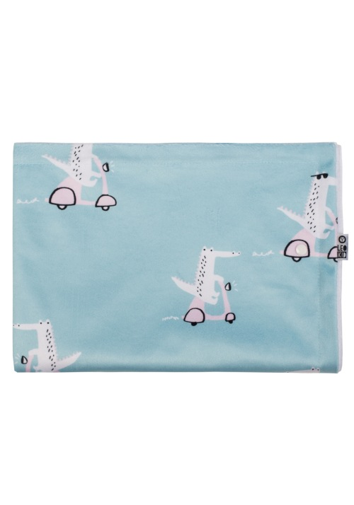 "Baby blanket ""Minty Vespa Croc"""
