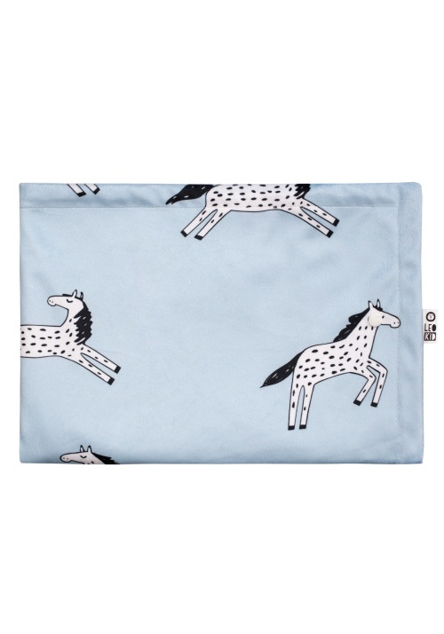 "Baby blanket ""Blue Magic Horse"""