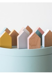A set of wooden toy houses Little Wooden Houses