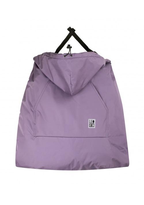 Накидка Leokid на эрго-рюкзак Purple Gray
