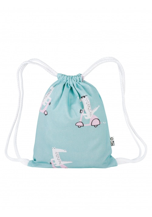 "Backpack for kids Leokid ""Minty Vespa Croc"""