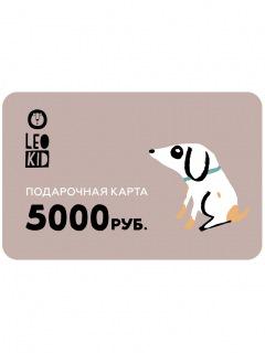 Электронная подарочная карта 5000